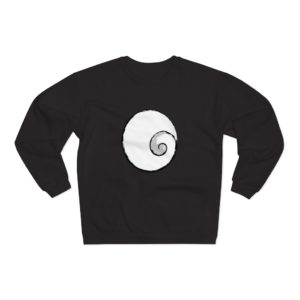 Little Spiral Logo Printed Unisex Crew Neck Sweatshirt