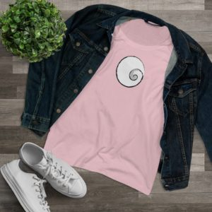 Little Spiral Printed Organic Women's Lover T-shirt